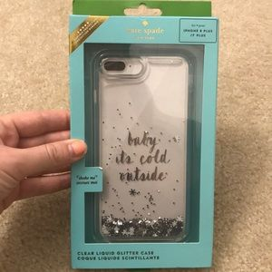 NWT kate spade 'Baby it's Cold Outside' phone Case